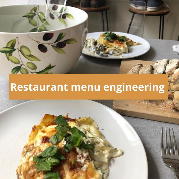Restaurant menu engineering